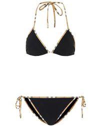 Burberry Bikini Vintage Check - Nero