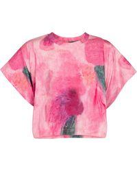 Isabel Marant T-shirt Zinalia imprimé en coton - Rose