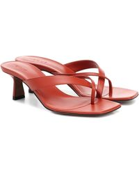 Neous Florae Leather Sandals - Red