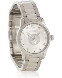 Gucci Uhr G-Timeless 27mm aus Edelstahl - Mettallic