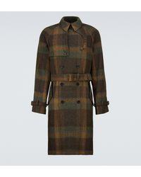 Ralph Lauren Purple Label Trench-coat à carreaux en laine - Vert