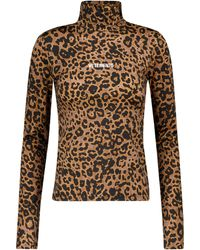 Vetements - Leopard-print Stretch-jersey Top - Lyst