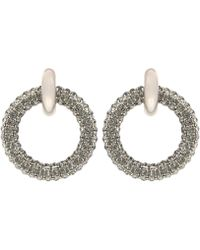 Balenciaga - Crystal-embellished Hoop Earrings - Lyst