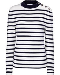 Paco Rabanne Pullover a righe in lana - Blu