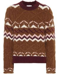 See By Chloé Fair Isle Alpaca-blend Sweater - Brown