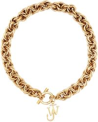 JW Anderson Gold-plated Chain Choker - Metallic