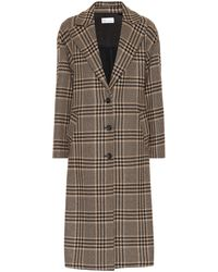 RED Valentino Houndstooth Wool-blend Coat - Multicolour