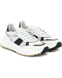 Bottega Veneta Speedster Leather And Mesh Trainers - White