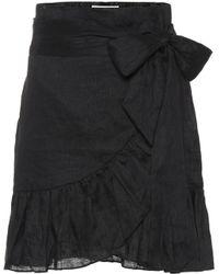 Étoile Isabel Marant Minifalda de lino con volantes - Negro