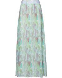 Ganni Falda larga plisada - Azul