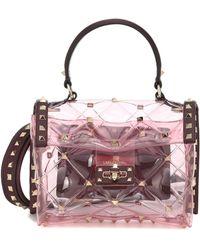 Valentino Mini Candy Stud Polymeric Bag - Pink