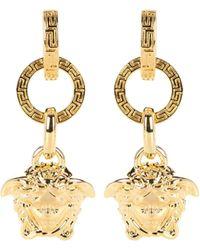 Versace Boucles d'oreilles sculptées - Métallisé