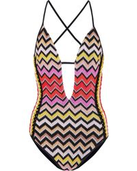 Missoni - Striped Swimsuit - Lyst