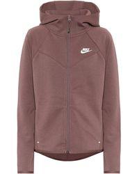 Nike Windrunner Cotton-blend Hoodie - Purple