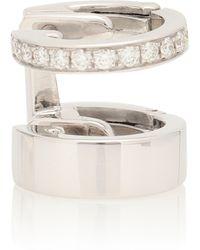 Repossi Ear Cuff Berbere Module aus 18kt Weißgold mit weißen Diamanten - Mettallic