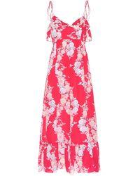 Athena Procopiou Heartbeats Silk Maxi Dress - Red