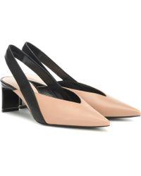 Nicholas Kirkwood Amira Slingback Leather Court Shoes - Multicolour
