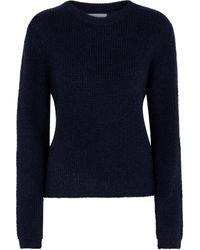Velvet Pull en laine mélangée - Bleu