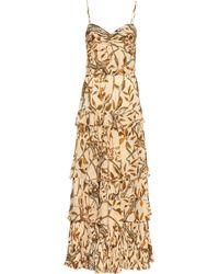 Johanna Ortiz All I've Ever Known Jaguar-print Silk Gown - Metallic