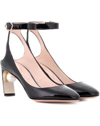 Nicholas Kirkwood Maeva Patent Leather Court Shoes - Black
