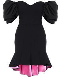 Alexander McQueen Off-shoulder Wool-blend Minidress - Black