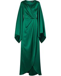 Rasario Stretch-satin Gown - Green