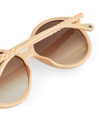 Chloé Billie Oval Sunglasses - Natural