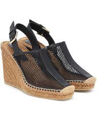 Jimmy Choo Dakori Leather Wedge Espadrilles - Black