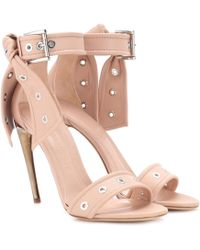 Alexander McQueen Studded Leather Sandals - Multicolor