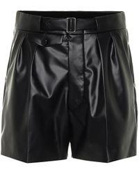 Maison Margiela High-rise Faux Leather Shorts - Black