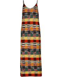 Palm Angels X Missoni – Robe midi en laine mélangée - Multicolore