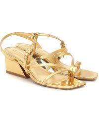 MERCEDES CASTILLO Kelise Leather Sandals - Metallic