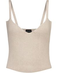 Magda Butrym Ribbed-knit Cashmere Camisole - Natural