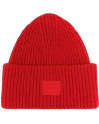 Acne Studios - Pansy Face Wool Beanie - Lyst