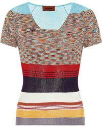 Missoni Striped Knit T-shirt - Multicolor