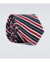 Thom Browne Silk-blend Striped Jacquard Tie - Multicolor