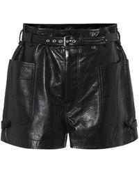 Isabel Marant Shorts Xike aus Leder - Schwarz