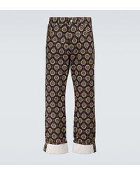 Dries Van Noten Printed Cuffed Jeans - Multicolour