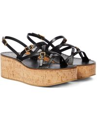 Tod's Leather Platform Sandals - Black