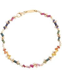 Suzanne Kalan Fireworks 18kt Yellow Gold Bracelet With Diamonds And Sapphires - Metallic