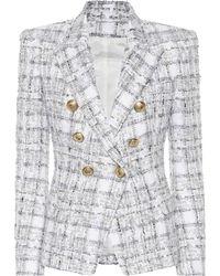 Balmain Exclusive To Mytheresa – Double-breasted Tweed Blazer - White