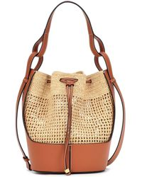 Loewe Paula's Ibiza Balloon Medium Raffia Shoulder Bag - Natural