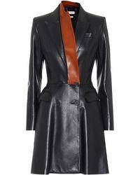 Alexander McQueen Minikleid aus Leder - Schwarz