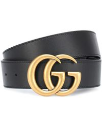 Gucci Ceinture GG en cuir - Noir