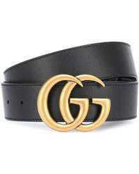 Gucci Gürtel GG aus Leder - Schwarz