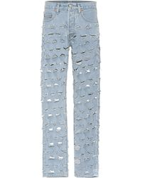 Vetements X Levi's® Distressed Jeans - Blau