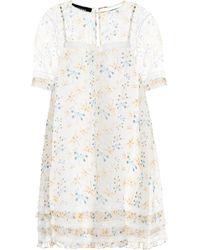 Rochas - Lace-trimmed Silk Dress - Lyst