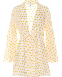 Alexandra Miro Exclusive To Mytheresa – Betty Polka-dot Cotton Cover-up - Yellow