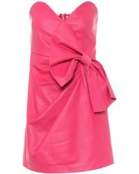 RED Valentino Minikleid aus Leder - Pink