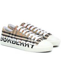 """Burberry Sneakers À Carreaux """"larkhall"""" 20 Mm - Neutre"""